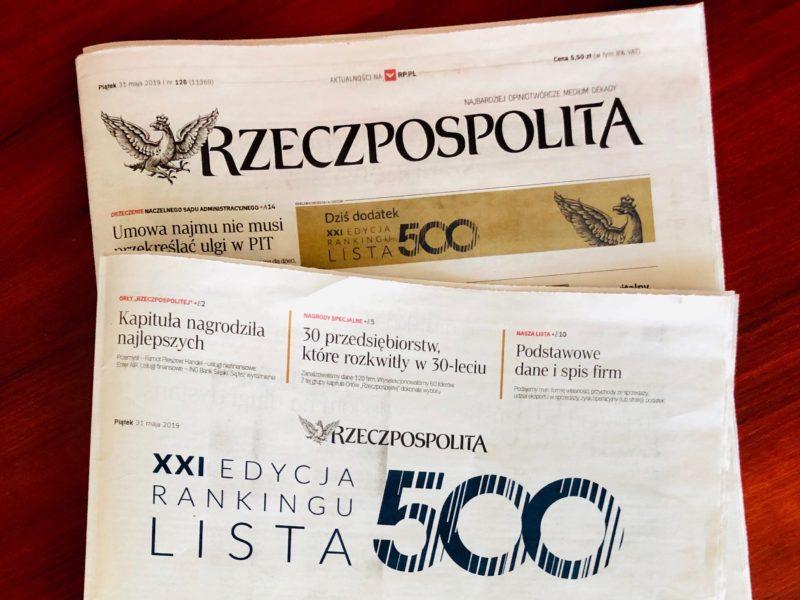 """Imperial Tobacco wPolsce na""""Liście 500"""" firm dziennika """"Rzeczpospolita"""""""